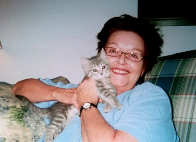 Beth Brant with kitty