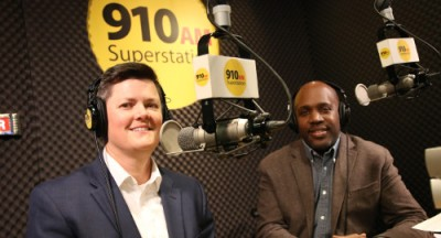 Steph and Curtis on 910 AM in 2017